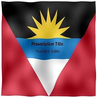 Antigua And Barbuda Animated Flag Powerpoint Templates - Antigua And Barbuda Animated Flag PPT Slides