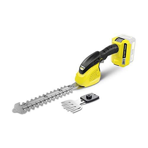 Kärcher GSH 18-20 akumulatorowe nożyce do trawy i krzewów (w zestawie nóż do trawy 12 cm i nóż do krzewów 20 cm, moc na akumulator: 650 lub 450 m, ochrona ostrza noża, waga 2,4 kg)