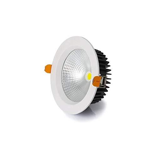 HSCW Downlight moderno empotrado 30W ajustable profundo antideslumbrante luces de techo AC 110-240V LED iluminación integrada Focos de techo Downlights para cocina, dormitorio, salón