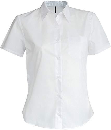 Kariban Judith > Chemise Manches Courtes Femme - Blanc, L, Femme