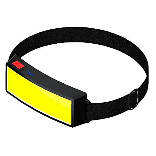 VusiElag Tornos De Cabeza De La Cabeza, Carga USB Impermeable para Acampar, Correr, Senderismo, Pescar