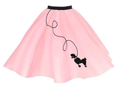 Hip Hop 50s Shop Adult Poodle Skirt Light Pink M/L