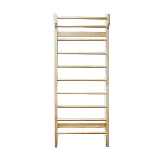 Urban Cycling Apparel Swedish Ladder Wood Stall Bar Suspension Trainer – Physical Therapy & Gymnastics Ladder w/ 10 Strategic Rods. Solid Pine.