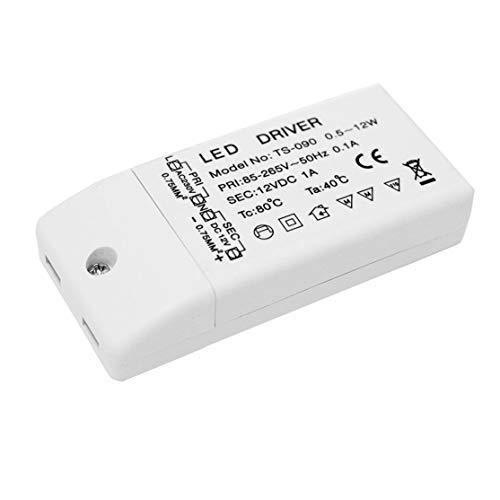 Kaemma 85-265 V naar 12 V LED-driver voeding TS-090 Durable spanningstransformator voor MR16 MR11 draagbare stroomomvormer (kleur: wit)