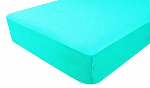 DOMIVA Drap-Housse Jersey Turquoise 60 x 120 cm