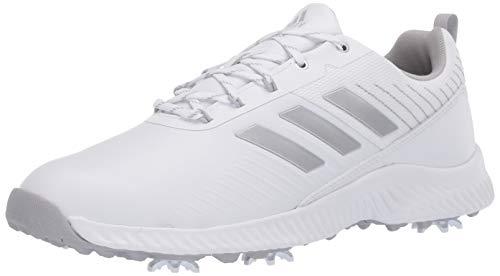 adidas womens W Response Bounce 2 Golf Shoe, Ftwr White/Silver Metallic/Grey Two, 9.5 US