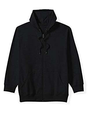 Amazon Essentials Men's Big and Tall Full-Zip Hooded Fleece Sweatshirt fit by DXL, Black, 3XLT from Amazon Essentials