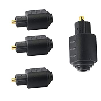 Optical 3.5mm Female Mini Jack Plug to Male Adapter,Toslink Digital Optical Audio Adapter,not Convert Output to optical-4pcs -pls One time use