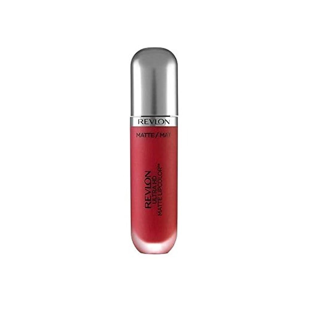 撃退するチーフキャンドルレブロンウルトラマット口紅パッション5.9ミリリットル x4 - Revlon Ultra HD Matte Lipstick Passion 5.9ml (Pack of 4) [並行輸入品]
