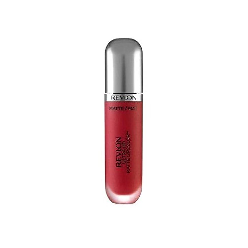 添付ディベート交差点レブロンウルトラマット口紅パッション5.9ミリリットル x4 - Revlon Ultra HD Matte Lipstick Passion 5.9ml (Pack of 4) [並行輸入品]