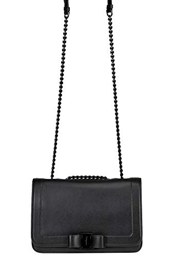 SALVATORE FERRAGAMO Luxury Fashion Donna MCGLBRE000006100I Nero Borsa A Spalla | Stagione Outlet