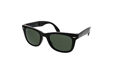 Gafas de sol Ray-Ban RB4105Wayfarer, plegables, no polarizadas, 50mm Negro Noir brillant