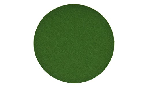 HOME OF AN ANGEL Untersetzer aus Filz in Grasgrün (Set bestehend aus 4 Stück, Kreis, Durchmesser 10 cm, Dicke 5 mm, Qualität 100% Wollfilz)