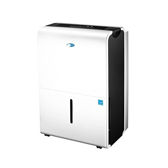 Whynter D Energy Star 30 Pint Portable Dehumidifiers-Elite Series, Multi 2 30 pint/14 liter capacity dehumidifier with 6 pint/2.83 liter removable water bucket including handles and caster wheels for portability Low temp operation (minimum ambient temperature low 40 Degrees), electronic controls with humidity sensor settings, fit for 35-85% relative humidity Auto-restart, auto-shutoff, 24-hour timer, dual fan speed, and auto-defrosting capability to prevent frost build-up inside unit