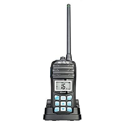 Retevis RT55 Marine Radio VHF Floating Waterproof NOAA Weather Alert Radio Long Range and Vibration Water Draining Walkie Talkies (1 Pack) by Retevis