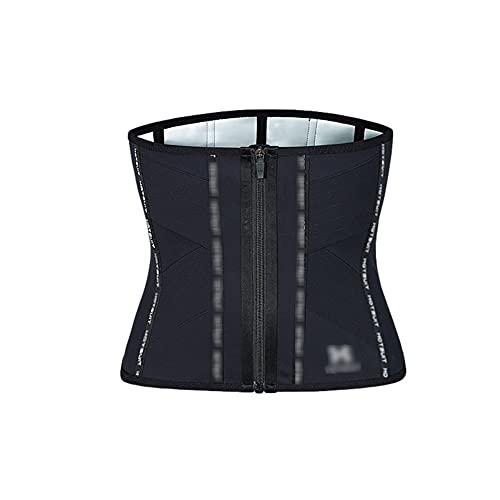 Wasit Trinner - Cintura para mujer con control de banda de sudor para control de cintura, cintura para quemar el vientre, moldeador para el cuerpo (color: negro, etiquetas de tesiseoflabas: L)