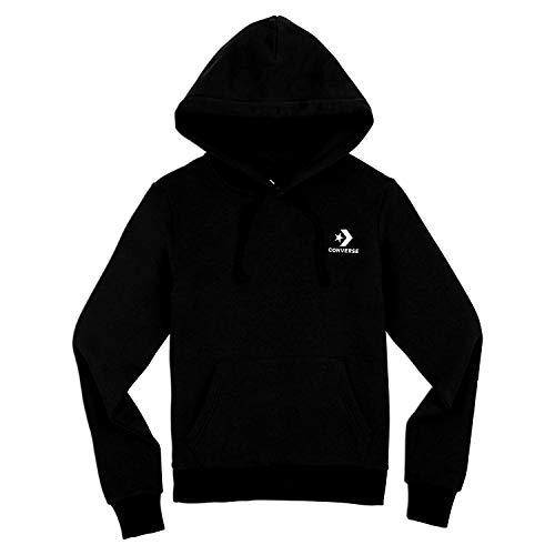 Converse Sweater Damen Star Chevron PO Hoodie 10008819 Schwarz 001, Größe:S
