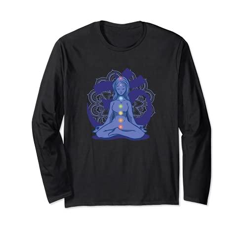 Yoga Meditación Zen-Yoga Mandala Reiki Cadena de chakras Manga Larga