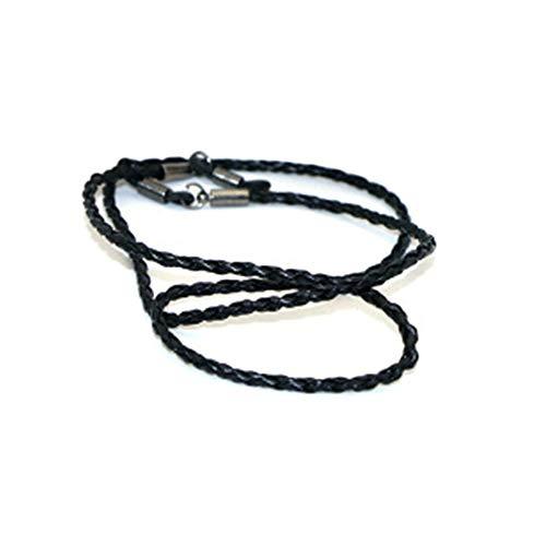 Belleza Moda Cuero Cuerda Ajustable Extremo Gafas Correa Cuello Exquisito Cordón de Gafas Universal Accesorios