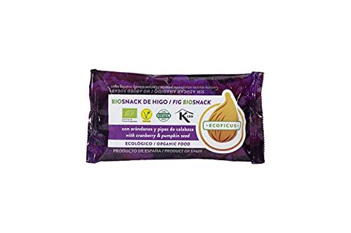 12x Barrita de higo ecológica con arándanos y pipas de calabaza - Snack de higo bio
