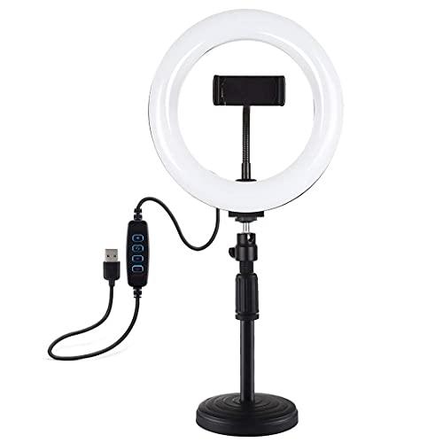 WlP Anillo de luz LED Selfie cámara de fotografía de 7,9 Pulgadas cámara de trípode de luz de Belleza Conjunto Completo de Equipos multifunción