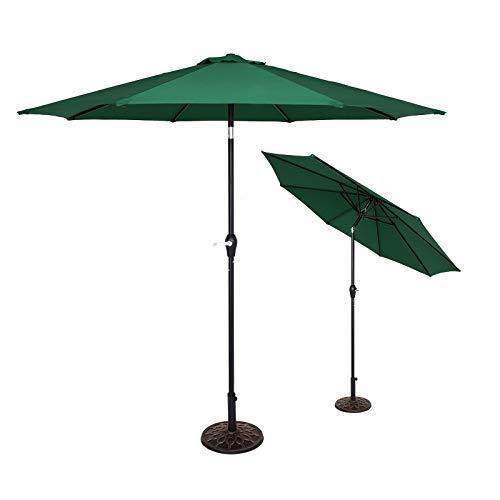 XYNH Sombrillas de jardín para exteriores – 270 cm – Toldo plegable – Paraguas impermeable de 2,7 m – Paraguas redondo para patio – Toldo de pérgola