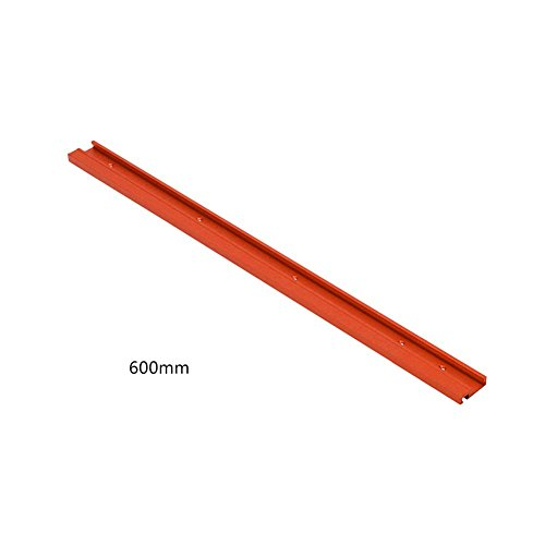 raninnao T-Track - Carril de inglete tipo guía para sierra circular de mesa, para trabajos en madera, para hacer trabajos manuales, ranura en T, 600 mm/800 mm, color rojo