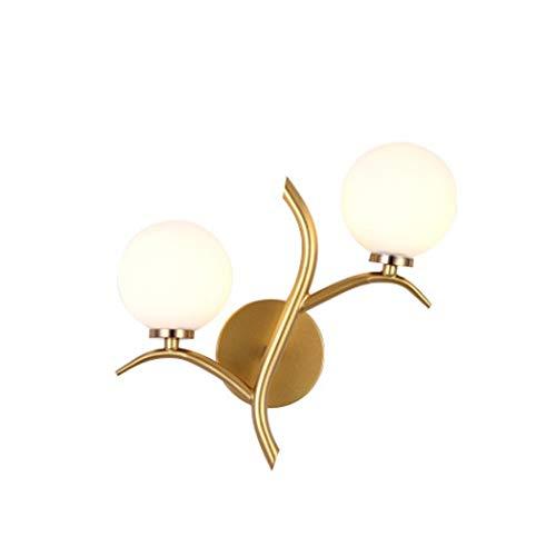 XJJZS Protección for los Ojos Creativo Moderno de la lámpara de Pared lámpara de Lectura Interior lámpara de Pared del Dormitorio del hogar Lámpara de Pared de Hierro