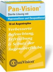 Pan-Vision Augentropfen Verbessert,Befeuchtet,Erfrischt und Schützt die Augenoberfläche.Spar-Set 2x10ml.