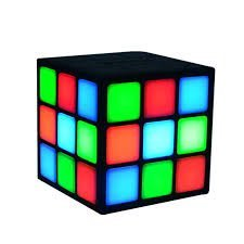 The Vogue Nation New Mini Magic Cube Colorful Wireless Portable Bluetooth Speaker with LED Flash Light
