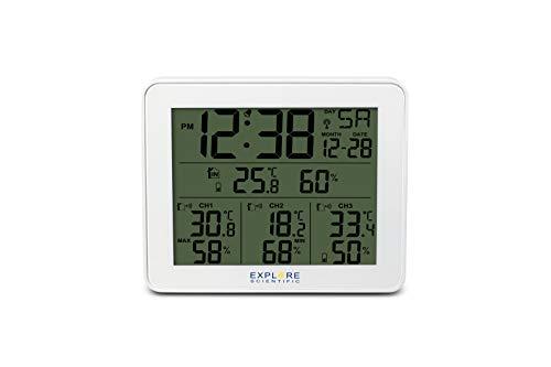 Explore Scientific WSH4003s Radio commandé station météo numérique avec 3 capteurs de température wi