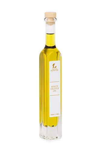 TruffleHunter weiße Trüffelöl-Geschenkflasche (1 x 100 ml) Olivenöl einfach konzentriert, kaltgepresst mit echter Trüffel-Gewürz-Marinade - vegetarischer Veganer