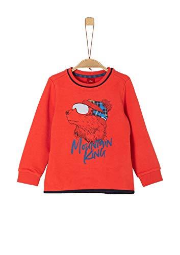 s.Oliver Jungen 63.909.41.2714 Sweatshirt, Rot (Red 2608), 116 (Herstellergröße: 116/122/REG)