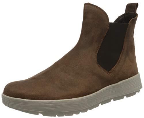 THINK! Comoda_3-000061 nachhaltiger, Leder gefütterter, Chelsea-Boots Donna, 3000 Mocca, 38 EU