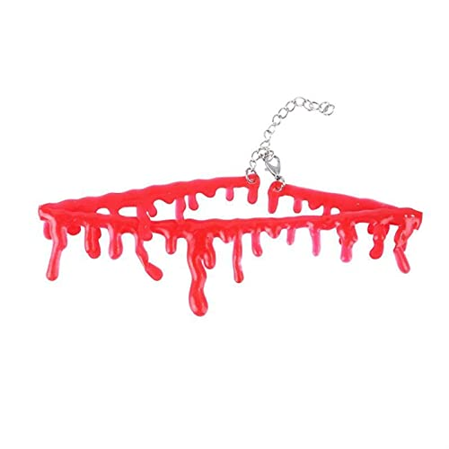 Red Dripping Blood Necklace Collar de halloween gato collar de perro suministros mascotas nuevas gargantillas de sangre mujeres chokers mascotas collares de halloween regalos de horror accesorios