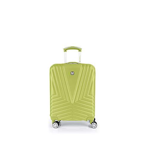 Gabol - Atlanta | Maleta de Cabina con Cargador USB Rigida de 40 x 55 x 20 cm con Capacidad para 34 L de Color Pistacho