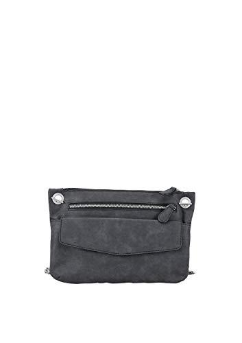s.Oliver (Bags Damen Clutch, Grau (Dark Stone), 2x20x28 cm