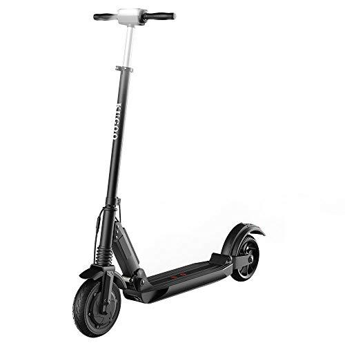 Patinete Eléctrico para Adultos, KUGOO S1 Scooter Electric Plegable Velocidad Máx 30 km/h, 350 Vatios, Batería 7.5Ah, Altura del Manillar Ajustable, Pantalla LCD, Impermeable IP54 (Negro)