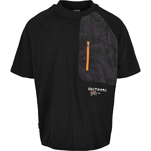 Cayler & Sons T-Shirt Mntn Camo Pocket Raglan Box Tee, Nero/MC, M Uomo