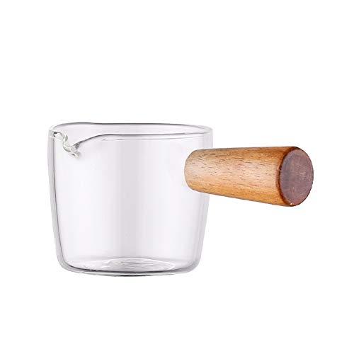 Breeezie Multifunktionale Geschmacksschale Kaffee Mini Milchpfanne Glas Essig Sauce Teller Platte Boote mit Griff