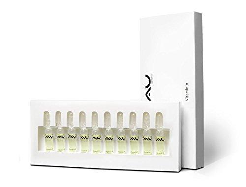 RAU Vitamin A Ampullen 10 Stück x 2 ml - Serum aus Milch-Proteinen, Hyaluronsäure, Ceramid, Panthenol. Für Reife und Trockene Haut
