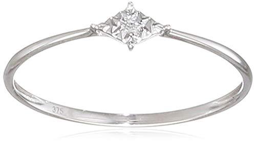 Naava Women White Diamond Engagement Ring - Size O PR12845W-O
