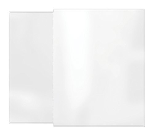 """Risch AAP 4.25X11/8.5X11, Pack of 24, Removable pocket providing two additional Viewing sides to your Menu, All Clear vinyl, 4.25"""" x 11"""" with 8.5"""" x 11"""" tab"""