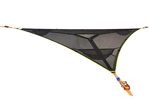 Tentsile Trillium 3-Person Tree Hammock - Patented 3 Point Design, Heavy Duty Ratchets and Straps (Black Mesh) (THM3)