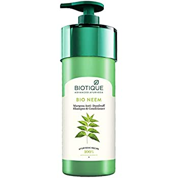 Biotique Bio Neem Margosa Anti Dandruff Shampoo and Conditioner, 800ml