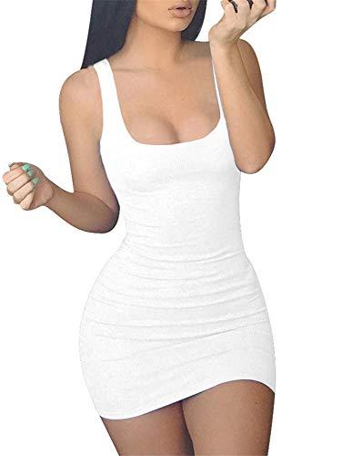 GOBLES Women's Casual Summer Sleeveless Mini Sexy Bodycon...