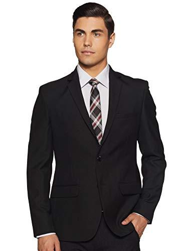 Park Avenue Men's Notch Lapel Slim fit Blazer (PMJL02272-K6_Black_108)
