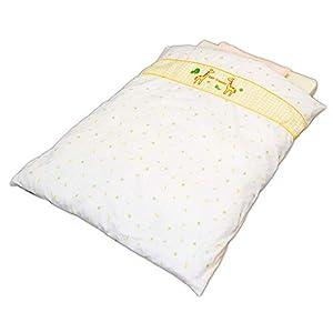 アイリスプラザ ベビー布団 お昼寝布団 洗える きりん柄 8点セット(敷きふとん、掛けふとん、掛けカバー、フィットシーツ、防水シーツ、枕、まくらカバー、収納ケース) 2000071468608