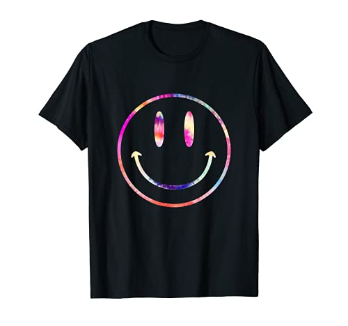Tie Dye Smiley Face Psychedelic Grunge Acid Man 90s Rave T-Shirt