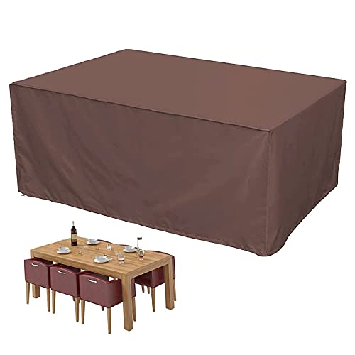 CCZUIML Garden Furniture Cover, Protective Cover, Tarpaulin for Garden Furniture, Waterproof, Windproof, Protective Cover, Garden Table Cover, Oxford Fabric, Breathable, for Garden Furniture